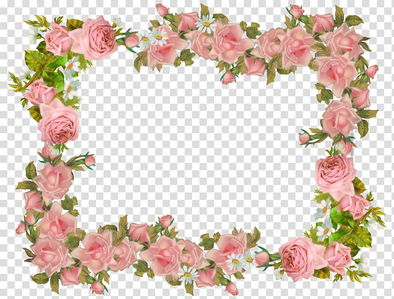 bunga merah muda, Perbatasan Kertas dan Bingkai Pakaian Vintage Bunga Mawar, bingkai bunga png