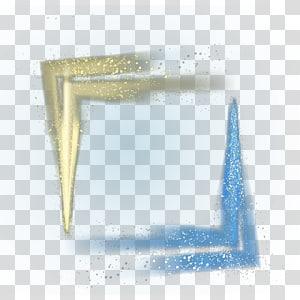 Bahan perbatasan pasir hisap dekoratif, bingkai glitter biru dan emas png