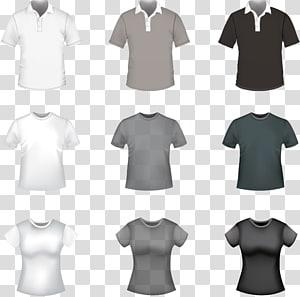 ilustrasi kaos aneka warna, T-shirt Polo shirt, T-shirt template png