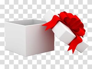 kotak hadiah putih dengan ilustrasi aksen pita, kotak Hadiah Kertas Hias Natal, Buka kotak hadiah png