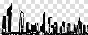 ilustrasi kota, Arsitektur Gedung Pencakar Langit Skyline, ilustrasi Bangunan PNG clipart