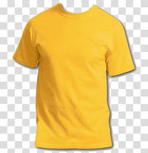 ilustrasi t-shirt crew-neck kuning, T-shirt Hoodie Clothing, T-Shirt s png