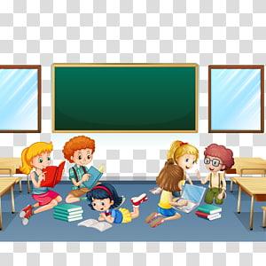 anak-anak di dalam kelas, Game Online Matematika Buah Persamaan, Ilustrasi membaca di sekolah png