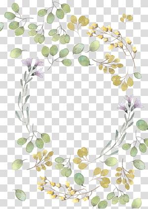 Lukisan cat air Flower Leaf, Daun hijau daun cat air, bunga merah muda dan kuning template karangan bunga png
