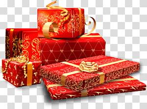 beberapa kotak hadiah merah, Kotak Hadiah Taobao, Hadiah, kotak hadiah, bahan Taobao png
