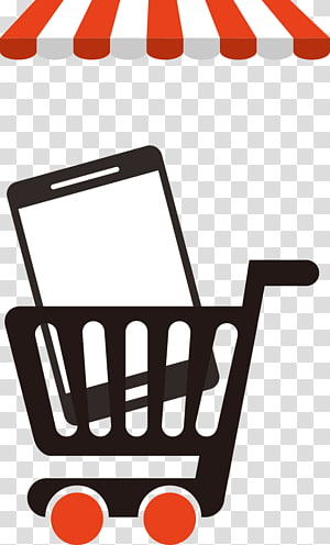 ilustrasi kart belanja, Belanja, telepon mobil belanja png