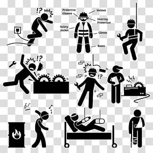 ilustrasi manusia putih dan hitam, peringatan keselamatan Stickman PNG clipart