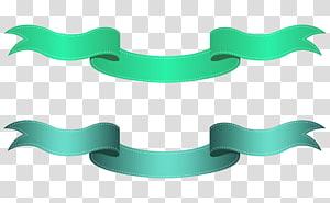 , Spanduk Hijau dan Biru, ilustrasi pita hijau PNG clipart
