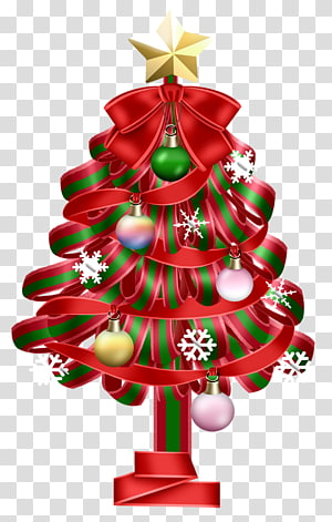 Ilustrasi pohon Natal, pohon Natal, Pohon Natal Merah PNG clipart