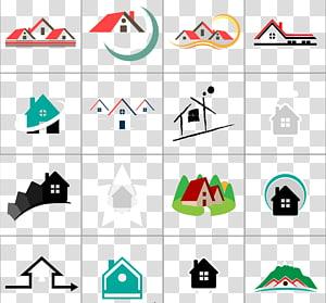 berbagai macam kolase warna-warni, Logo Rumah Ikon Real Estat Euclidean, 16 dari bahan desain logo Real Estat png