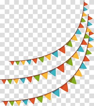 Brazil Illustration, spanduk liburan yang menggantung bendera, dari buntings 3-layer png