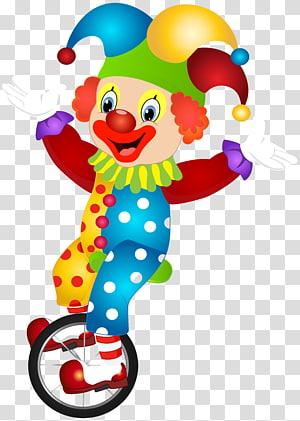 ilustrasi unicycle badut naik, Badut, Lucu Badut png
