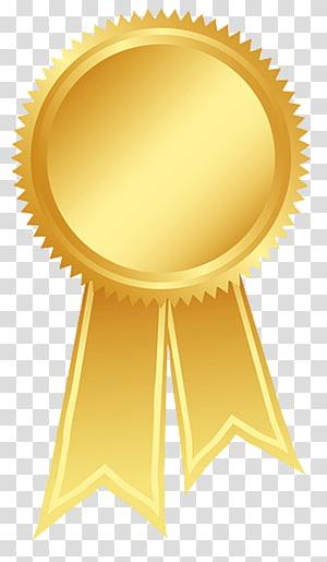 ilustrasi medali emas, Penghargaan Pita Emas Rosette, Pita Emas s png
