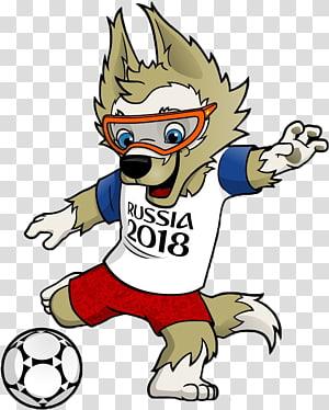 Piala Dunia FIFA 2018 Maskot resmi Piala Dunia FIFA Zabivaka Tim sepak bola nasional Iran, 世界杯, serigala ilustrasi karakter kartun png