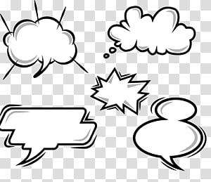 ilustrasi kotak dialog, balon Komik Pidato Kartun, komik cloud ledakan Dialog png