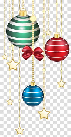 beberapa stiker perhiasan, Ikon Hari Natal ornamen Natal, Dekorasi Bola Natal PNG clipart