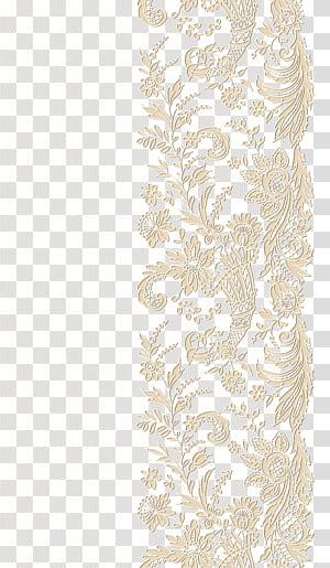 Renda, Renda, karya seni renda krem PNG clipart