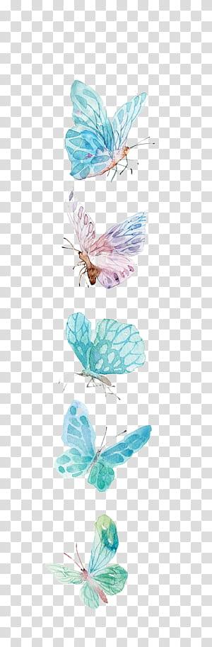 Ikon Kupu-Kupu, Kupu-kupu Cat Air, ilustrasi kupu-kupu biru dan ungu png