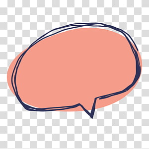 Balon ucapan Kartun, menggambar kotak dialog teks merah, logo oranye oval png