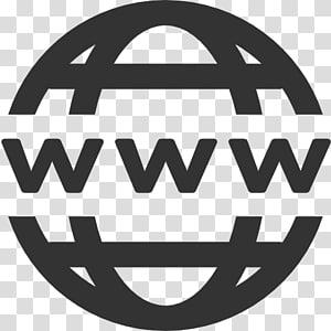 Ikon Komputer Situs Web World Wide Web Favicon, Domain, Www Icon, logo www bulat abu-abu png