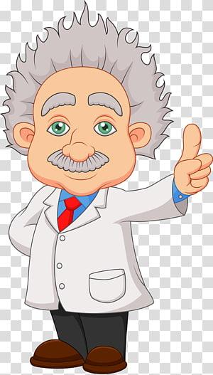 orang tua yang memakai ilustrasi jas lab, ilustrasi Kartun Ilmuwan, para ilmuwan lanjut usia png