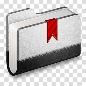 buku abu-abu dan hitam dengan bookmark pita merah, sudut lampu ekor & lampu rem otomotif, Bookmark Metal Folder png
