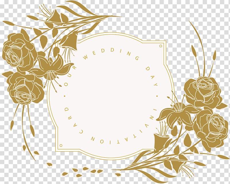 Undangan Pernikahan Desain Bunga Bunga, Kartu Undangan Pernikahan, Ilustrasi Kartu Undangan Hari Pernikahan Anda png