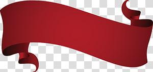 Wine Red Euclidean Ribbon, pita merah kreatif, pita merah png