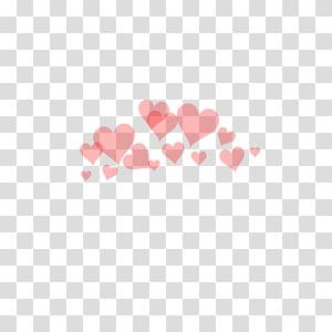 hati merah muda, Overlay Heart PicsArt Studio, Hearts Tumblr png