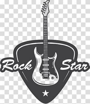 Ilustrasi Rock Star, gitar Bass Ilustrasi musik rock, Gitar Rock png