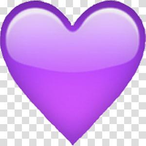 hati ungu, Emoji iPhone Hati ungu, hati emoji png