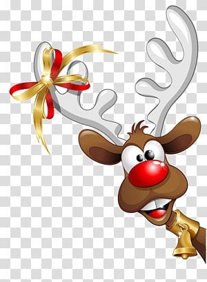 ilustrasi rusa, Humor Santa Claus Natal, Rusa Natal png