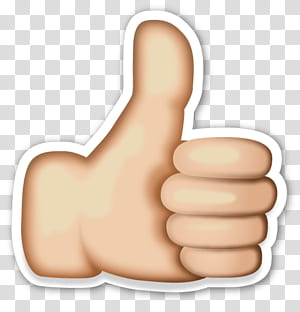 Ikon Stiker Emoji Jempol, Emoji Tangan, jempol ke kiri PNG clipart