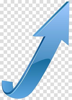 ilustrasi panah biru, Arrow, Blue Up Arrow PNG clipart