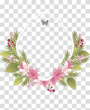 Bunga Vintage bingkai pakaian Undangan pernikahan, label bingkai bunga Vintage, karangan bunga bunga merah muda dan hijau png