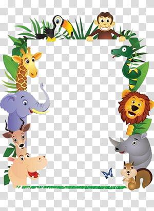 Monyet Hewan, bingkai Hewan, ilustrasi bingkai bertema hutan png