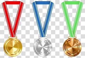 Penghargaan medali emas, Medali Emas Perak dan Perunggu, tiga medali aneka warna png