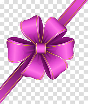 Ribbon, Decorative Pink Bow Corner, ilustrasi pita ungu png
