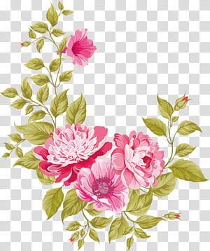 Undangan pernikahan Bunga merah muda Kartu ucapan, Bahan bunga, lukisan bunga merah muda png