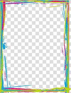 perbatasan warna-warni, file Komputer Warna Emas, Batas berwarna png