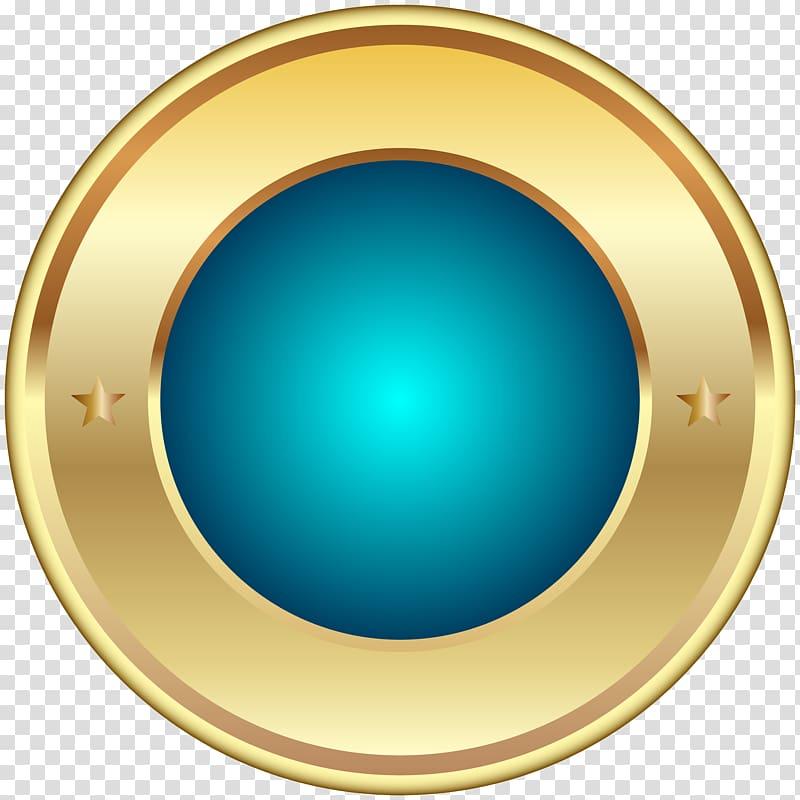 logo bulat emas dan biru, Circle Font, Seal Badge Blue PNG clipart