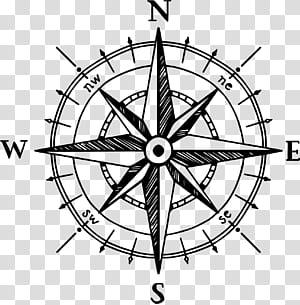 North Compass rose Drawing, Kompas yang dilukis dengan tangan png
