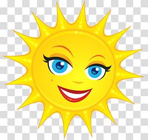 ilustrasi matahari kuning, Smiley, Cute Sun PNG clipart
