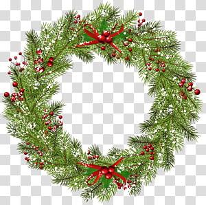 Karangan Bunga Natal, Karangan Bunga Natal, karangan bunga hijau dan merah PNG clipart
