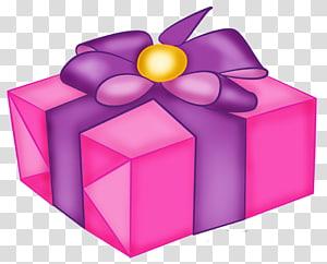 kotak hadiah ungu dengan ilustrasi busur, Kue Ulang Tahun Bakery Kue coklat Kue pengantin, Kotak Hadiah Merah Muda dengan Busur Ungu png