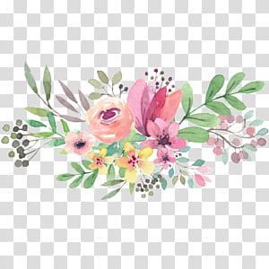 Undangan pernikahan, Hari Ibu, Kakek Nenek Nasional, bunga-bunga Cat Air, lukisan bunga aneka warna png