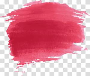 Lukisan cat air Merah, efek cat cat air Merah png
