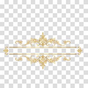 bingkai avatar bunga berwarna emas, Euclidean, bingkai bilah pencarian Eropa klasik emas png