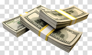 tiga 100 bundel uang kertas dolar AS, uang Grafik komputer 3D Uang Kertas Dolar Amerika Serikat, uang kertas png