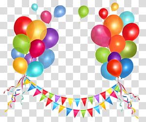 Kue ulang tahun Balon, Streamer Pesta dan Balon, balon banyak png